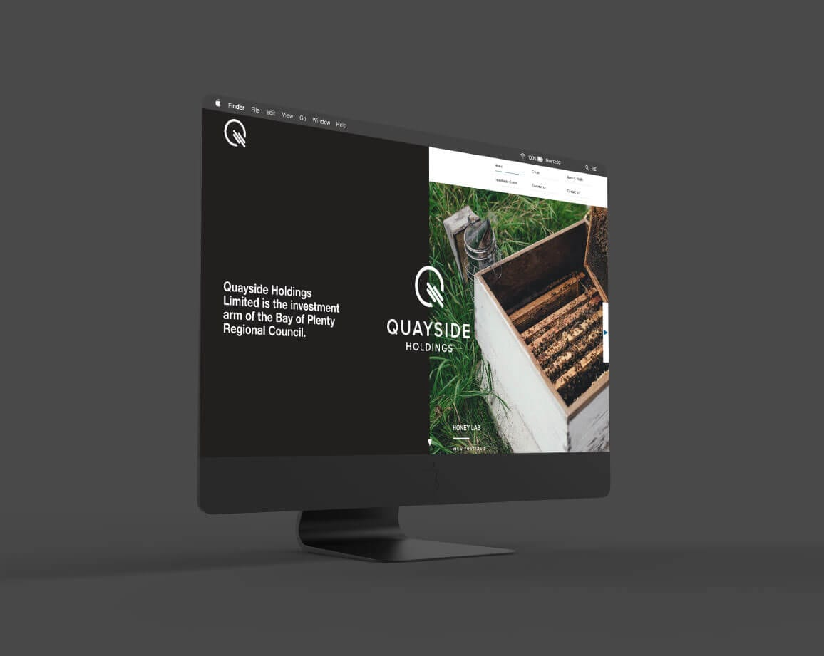 Quayside Holdings website design
