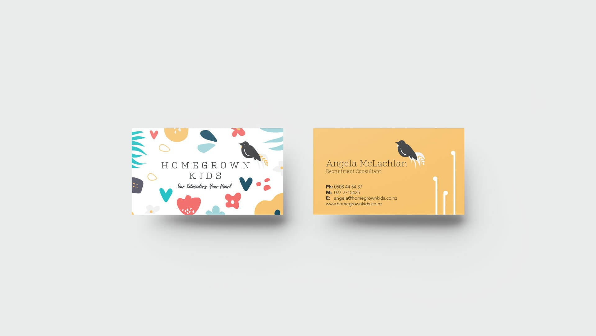 Home Grown Kids Business Card