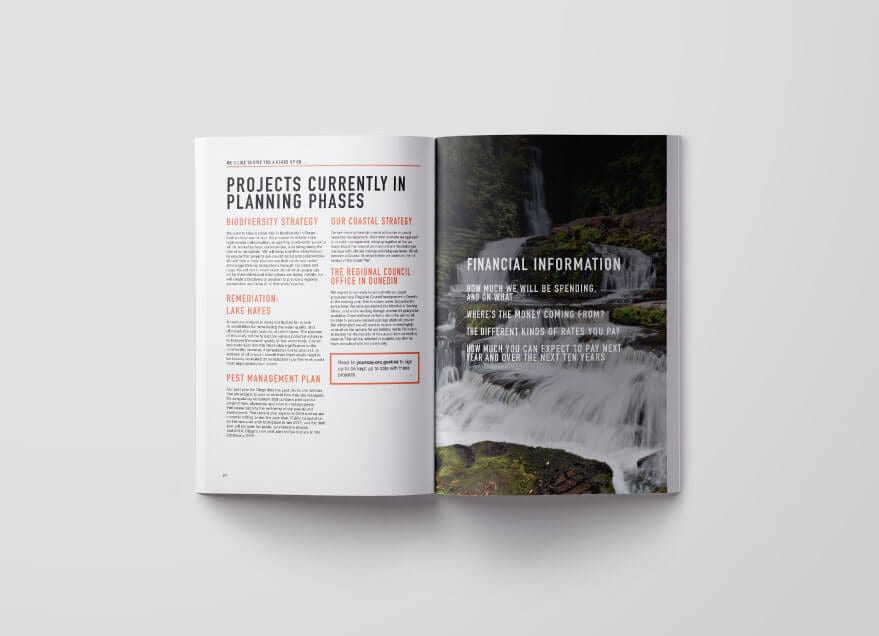 Otago Regional Council 10 year plan spread 2
