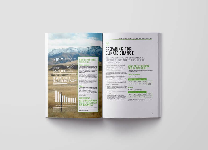Otago Regional Council 10 year plan spread 3