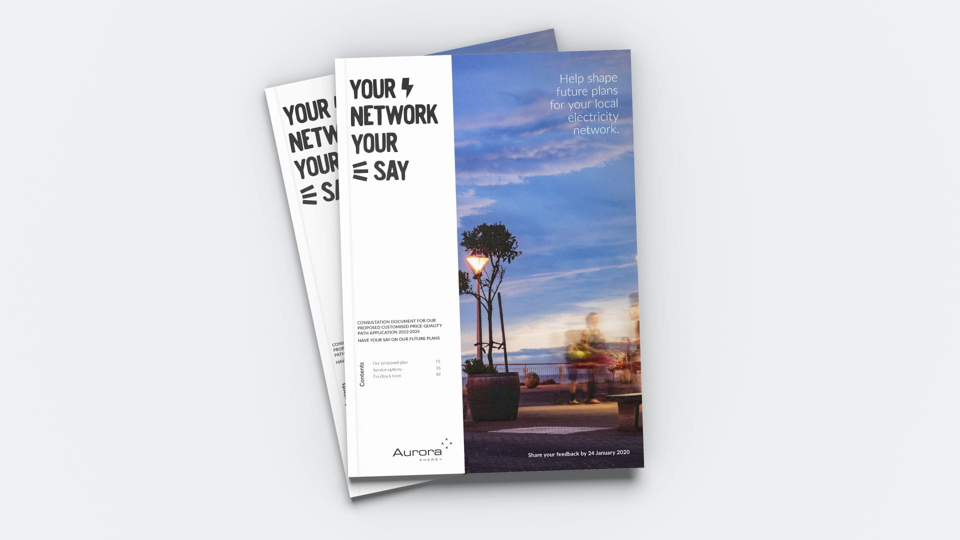 Aurora Energy Consultation document mockup cover