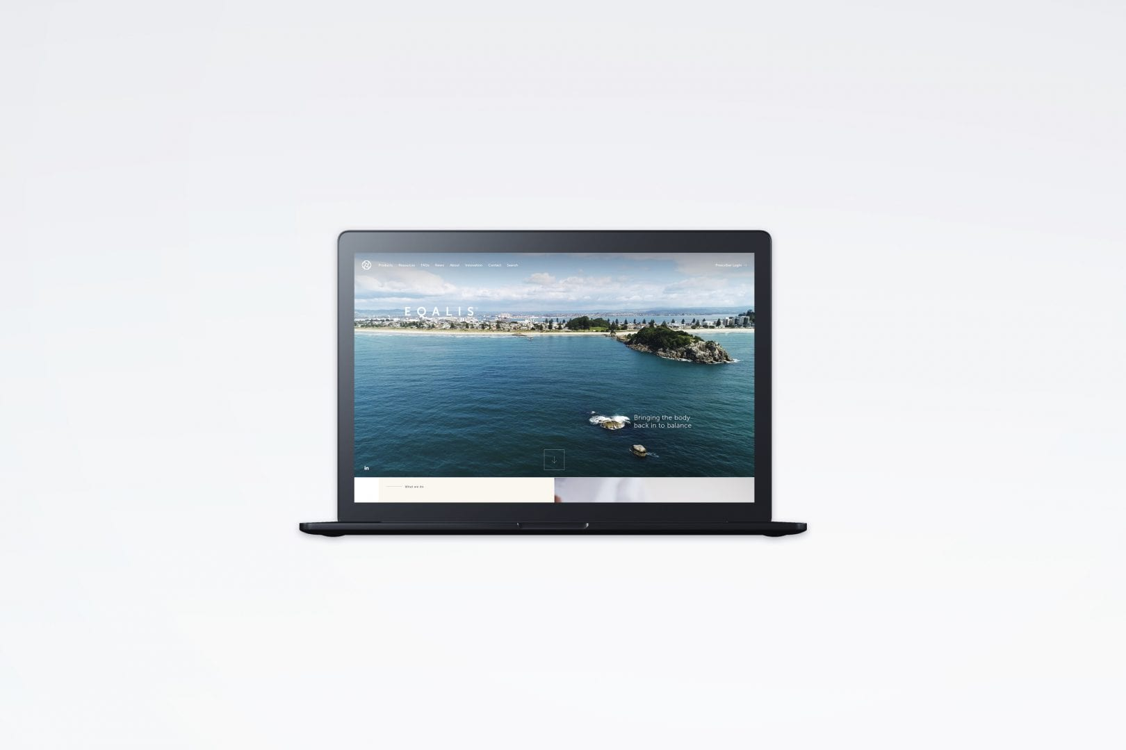 Fuel Agency Eqalis website Macbook mockup