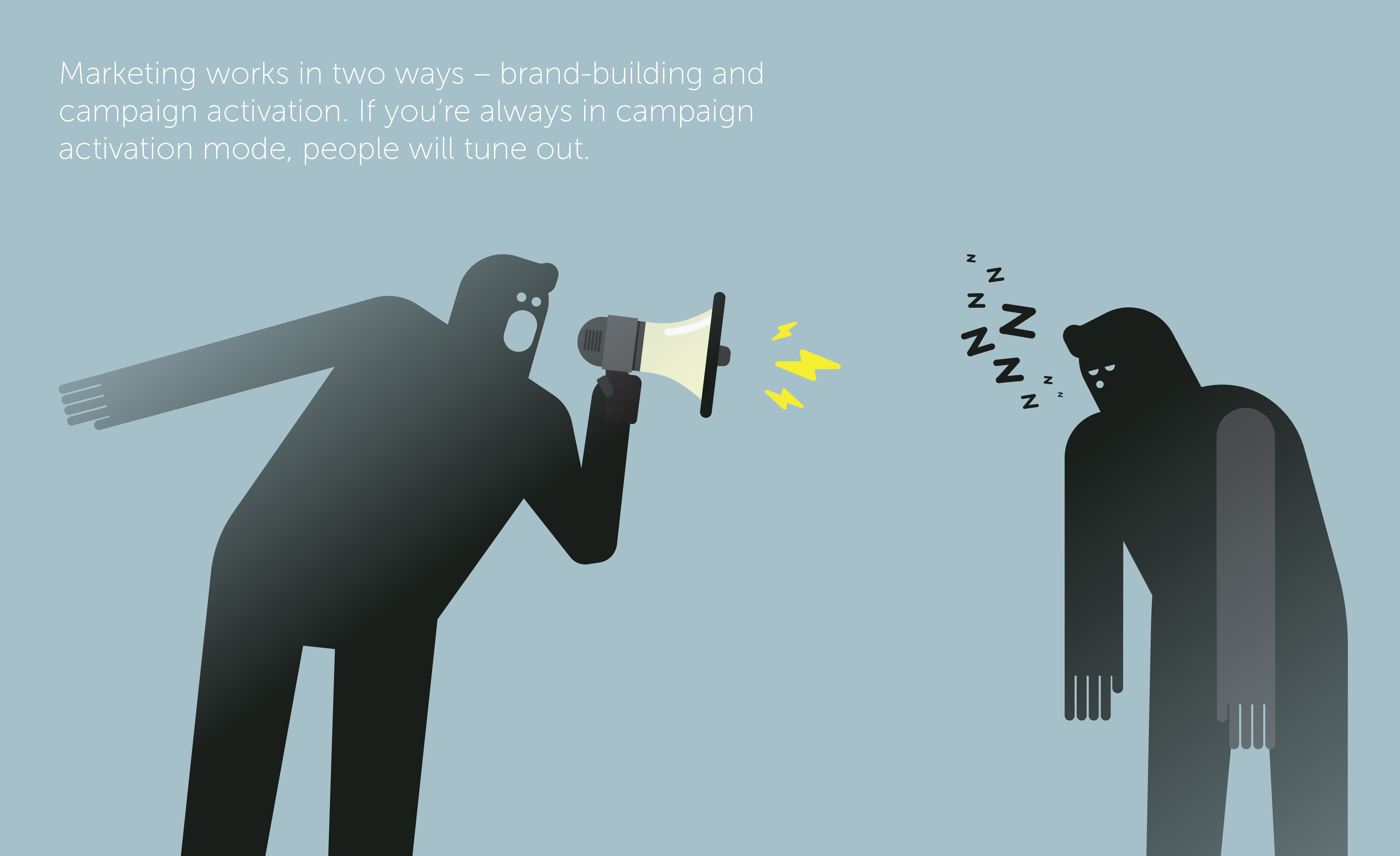 media consumption trends show us that marketing works in two ways.
